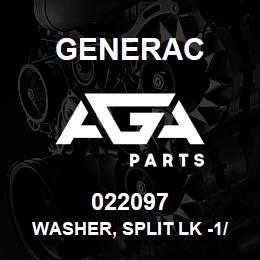 022097 Generac WASHER, SPLIT LK -1/4-M6 | AGA Parts