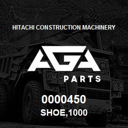 0000450 Hitachi SHOE,1000 | AGA Parts