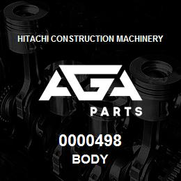 0000498 Hitachi BODY | AGA Parts