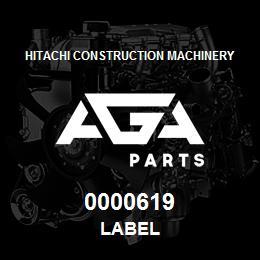 0000619 Hitachi Label | AGA Parts