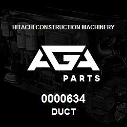 0000634 Hitachi DUCT | AGA Parts