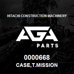 0000668 Hitachi CASE,T.MISSION | AGA Parts