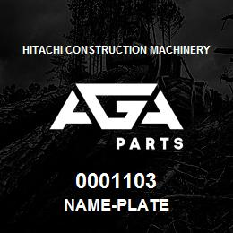 0001103 Hitachi NAME-PLATE | AGA Parts