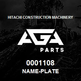 0001108 Hitachi NAME-PLATE | AGA Parts
