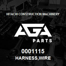 0001115 Hitachi HARNESS,WIRE | AGA Parts
