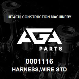 0001116 Hitachi HARNESS,WIRE STD | AGA Parts