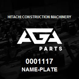 0001117 Hitachi NAME-PLATE | AGA Parts