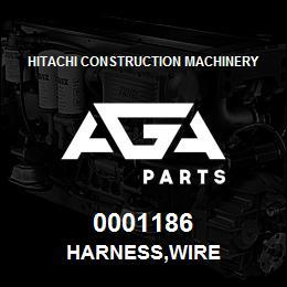 0001186 Hitachi HARNESS,WIRE | AGA Parts