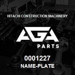 0001227 Hitachi NAME-PLATE | AGA Parts