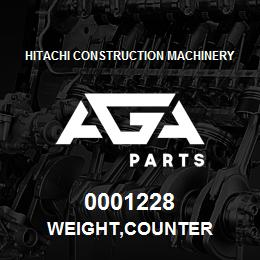 0001228 Hitachi WEIGHT,COUNTER | AGA Parts