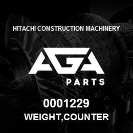 0001229 Hitachi WEIGHT,COUNTER | AGA Parts