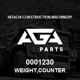 0001230 Hitachi WEIGHT,COUNTER | AGA Parts