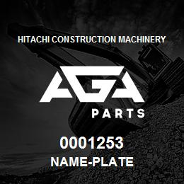 0001253 Hitachi NAME-PLATE | AGA Parts