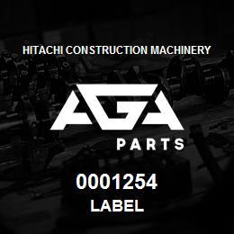 0001254 Hitachi LABEL | AGA Parts
