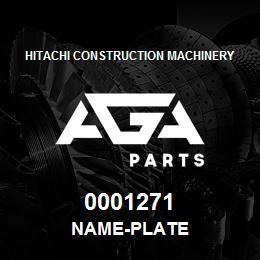0001271 Hitachi NAME-PLATE | AGA Parts