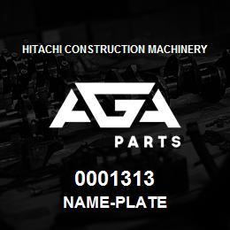 0001313 Hitachi NAME-PLATE | AGA Parts