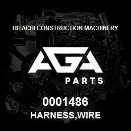 0001486 Hitachi HARNESS,WIRE | AGA Parts