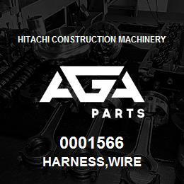 0001566 Hitachi HARNESS,WIRE | AGA Parts