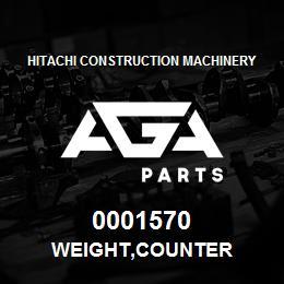 0001570 Hitachi WEIGHT,COUNTER | AGA Parts