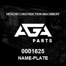 0001625 Hitachi NAME-PLATE | AGA Parts