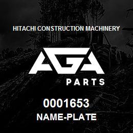 0001653 Hitachi NAME-PLATE | AGA Parts