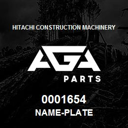 0001654 Hitachi NAME-PLATE | AGA Parts