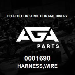 0001690 Hitachi HARNESS,WIRE | AGA Parts