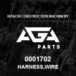 0001702 Hitachi HARNESS,WIRE | AGA Parts