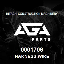 0001706 Hitachi HARNESS,WIRE | AGA Parts