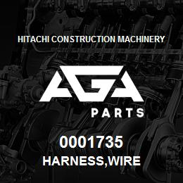 0001735 Hitachi HARNESS,WIRE | AGA Parts