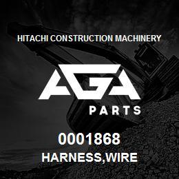 0001868 Hitachi HARNESS,WIRE | AGA Parts