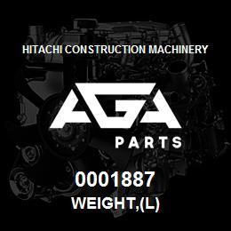 0001887 Hitachi WEIGHT,(L)   AGA Parts