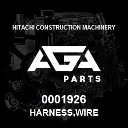0001926 Hitachi HARNESS,WIRE | AGA Parts