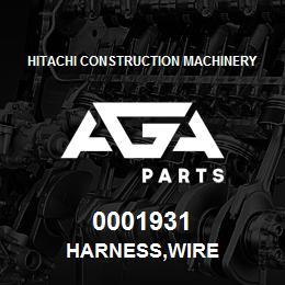 0001931 Hitachi HARNESS,WIRE   AGA Parts