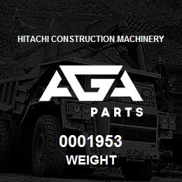 0001953 Hitachi WEIGHT | AGA Parts