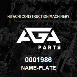 0001986 Hitachi NAME-PLATE | AGA Parts