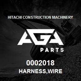 0002018 Hitachi HARNESS,WIRE | AGA Parts