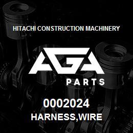 0002024 Hitachi HARNESS,WIRE | AGA Parts