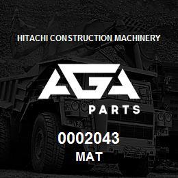 0002043 Hitachi MAT | AGA Parts