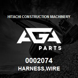 0002074 Hitachi HARNESS,WIRE | AGA Parts