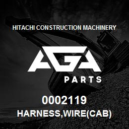 0002119 Hitachi HARNESS,WIRE(CAB) | AGA Parts
