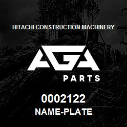 0002122 Hitachi NAME-PLATE | AGA Parts