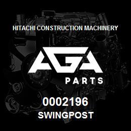 0002196 Hitachi SWINGPOST | AGA Parts