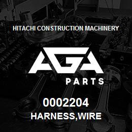 0002204 Hitachi HARNESS,WIRE | AGA Parts