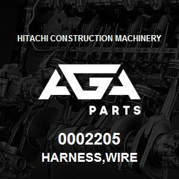 0002205 Hitachi HARNESS,WIRE | AGA Parts