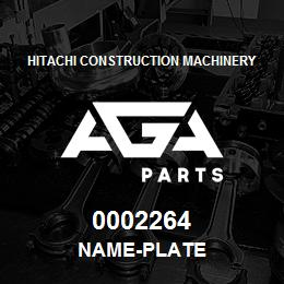 0002264 Hitachi NAME-PLATE | AGA Parts