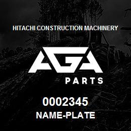 0002345 Hitachi NAME-PLATE | AGA Parts