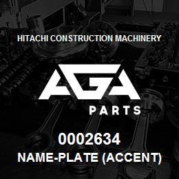 0002634 Hitachi NAME-PLATE (ACCENT) | AGA Parts