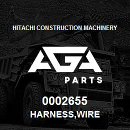 0002655 Hitachi HARNESS,WIRE | AGA Parts