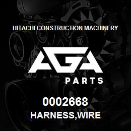 0002668 Hitachi HARNESS,WIRE | AGA Parts